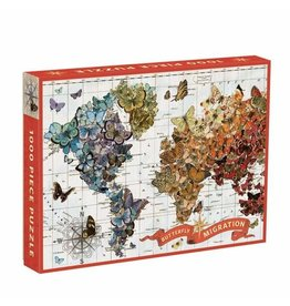 Galison Puzzle- Wendy Gold Butterfly