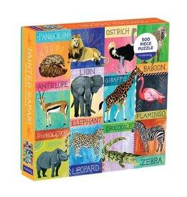 Galison Puzzle- Painted Safari