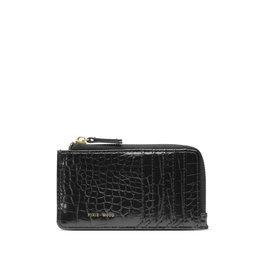 Pixie Mood Quinn Card Wallet Black Croc