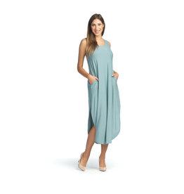 Papillon Libby Maxi Dress  - Atlantic Blue Solid