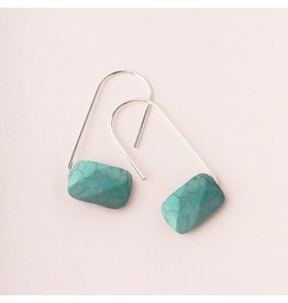 Scout Turquoise/Silver Floating Stone Earring