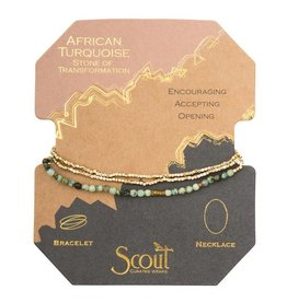 Scout Delicate Stone Necklace/Bracelet -African Turquoise/Gold