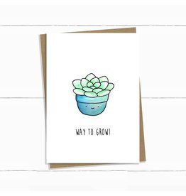 Baun Bon Card- Way To Grow