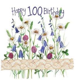 Alex Clark Floral Happy 100TH Birthday Card