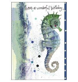 Alex Clark Seahorse Wonderful Day Birthday Card