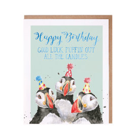 WRENDALE Card-Birthday Candles (Puffin)