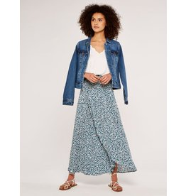 Apricot Ditsy Smock Waist Wrap Skirt