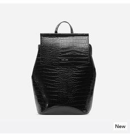 Pixie Mood Kim Backpack Black Croc