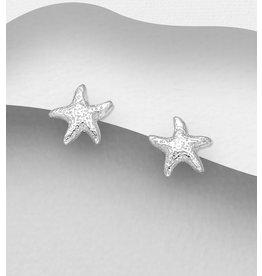 Sterling Studs:  Small Starfish