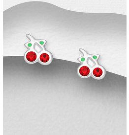 Sterling Studs- Cherries