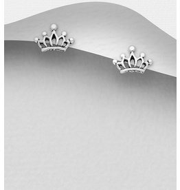 Sterling Studs- Crowns