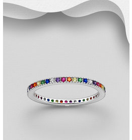 Sterling Rainbow Ring