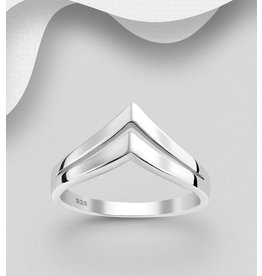 Sterling Double Chevron Ring