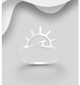 Sterling Sunshine & Wave Ring
