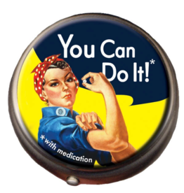 The Unemployed Philosophers Guild Pill Box - Rosie the Riveter