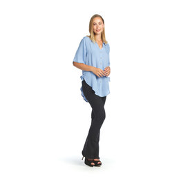Papillon Janis Collared Blouse in Denim Blue