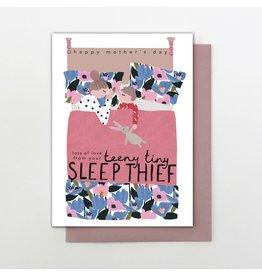 Stop The Clock Design Card- Teeny Tiny Sleep Thief