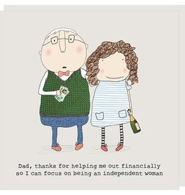 Rosie Made a Thing Card- Idependent Woman