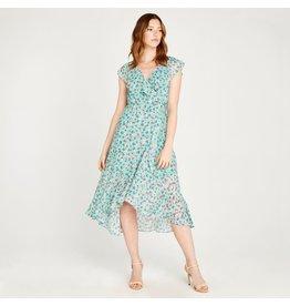 Apricot Winona- Floral Ruffle Midi Dress