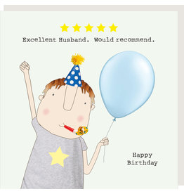 Rosie Made a Thing Card-Five Star Husband