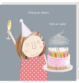 Rosie Made a Thing Card-Old At Cake Girl