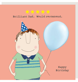 Rosie Made a Thing Card-Five Star Dad