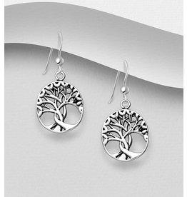 Sterling Tree of Life Earrings