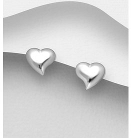 Sterling Studs- Sterling Hearts