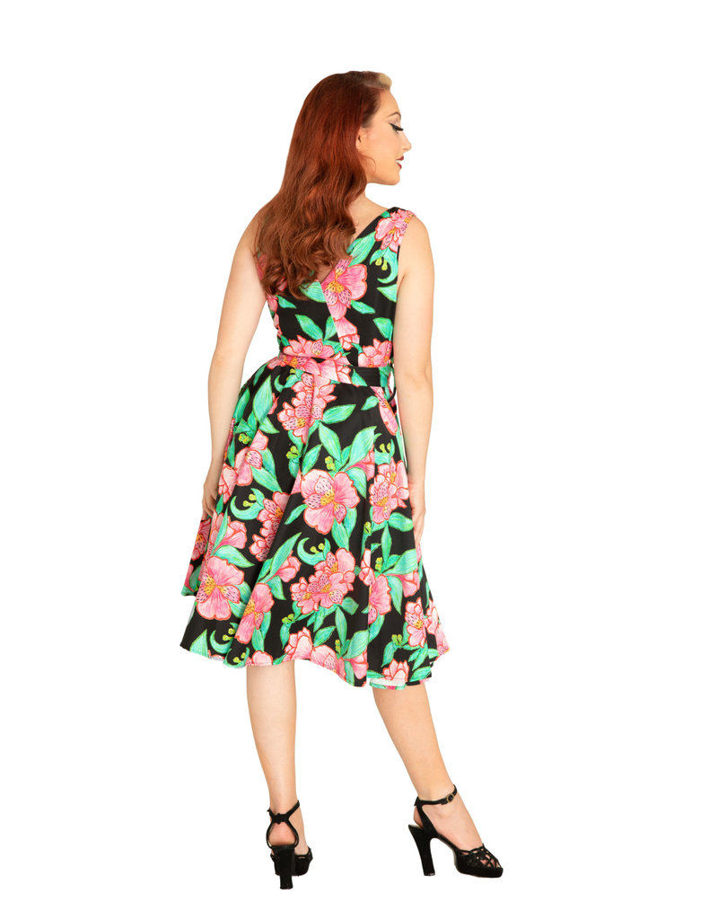 Miss Lulo Julie Dress-Floral Bloom