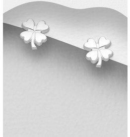 Sterling Studs- Four Leaf Clover