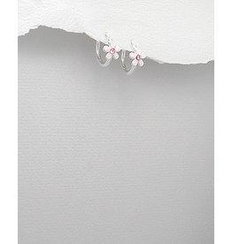 Sterling Pink Flower Drops