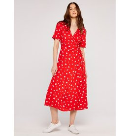 Apricot Amelia Floral Wrap Dress