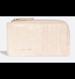 Pixie Mood Quinn Card Wallet White Croc