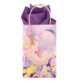 The Gift Wrap Company Giftbag/Marble Mad Lavender- Mini