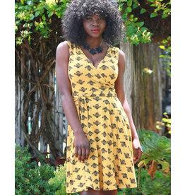 Effie's Heart Sigrid Dress Bumble Bee Print