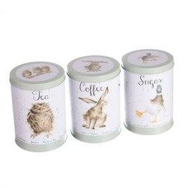 WRENDALE Tea, Coffee, Sugar Canisters-Green