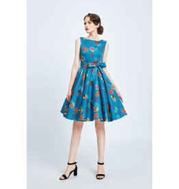 Miss Lulo Anita Cherry and Floral Dress