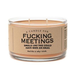 Whiskey River Soap Co. Candles Fucking Meetings