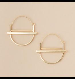 Scout Earrings- Saturn Hoop Gold