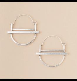 Scout Earrings- Saturn Hoop Silver