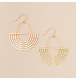 Scout Earrings- Solar Rays Gold Vermeil