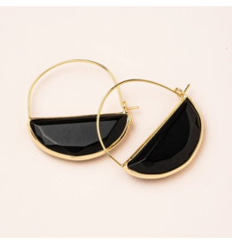Scout Stone Prism Hoop Earring Black/Gold