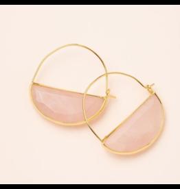 Scout Stone Prism Hoop Earring Rose Quartz/Gold