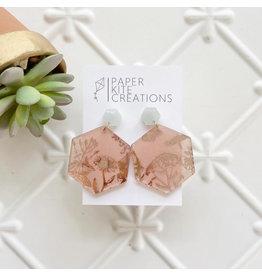 Paper Kite Creations Earrings-Engraved Mirror