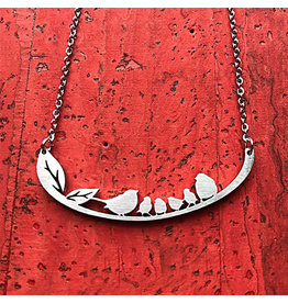 Close 2 UR Heart Songbird Family of 6 Necklace