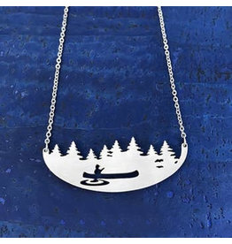 Close 2 UR Heart Canoe Stainless Steel Necklace