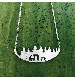 Close 2 UR Heart Camper Stainless Steel Necklace