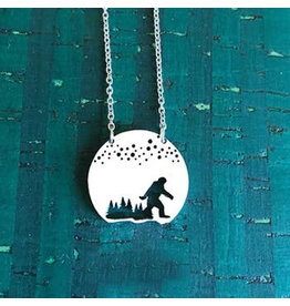 Close 2 UR Heart Bigfoot aka Sasquatch Necklace