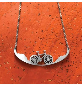 Close 2 UR Heart Bicycle Stainless Steel Necklace