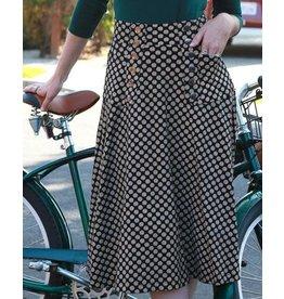 Effie's Heart Suffragette Skirt Etched Dot Print